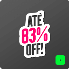 Ofertas até 83% OFF