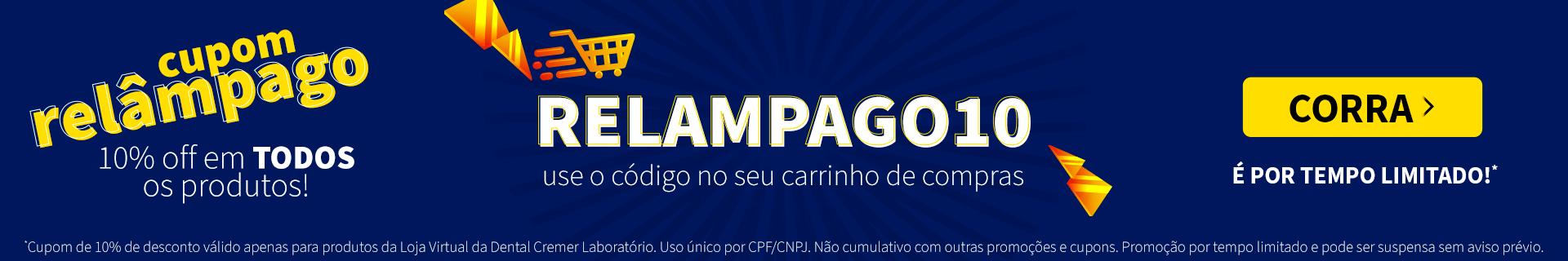 Cupom RELÂMPAGO pra você!