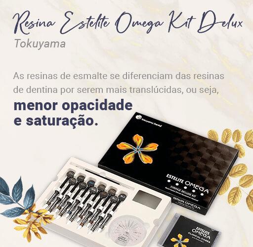 Resina Estelite Omega kit Deluz: Resina de esmalte com menor opacidade e saturação