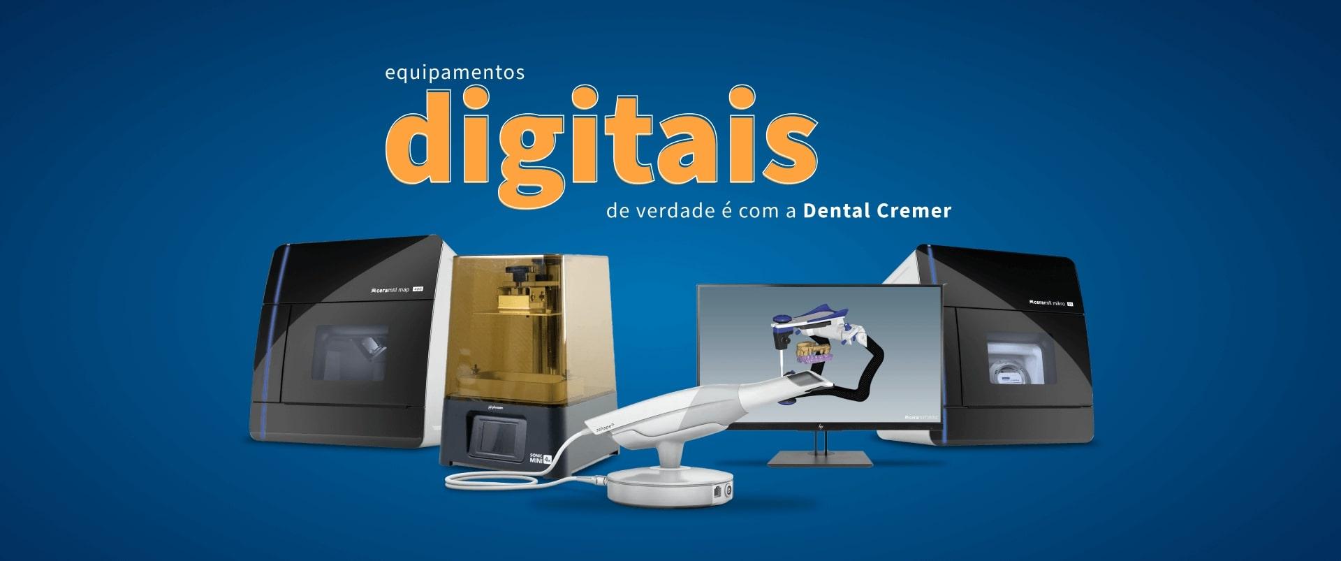 Equipamentos digitais de verdade é com a Dental Cremer