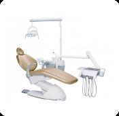 Cadeira de dentista com braço de apoio fixo