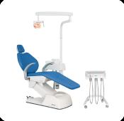 Cadeira odontológica bege