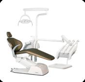 Cadeira odontológica com refletor