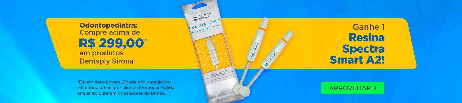 Odontopediatra ganhe de brinde resina Spectra Smart A2   Dental Cremer