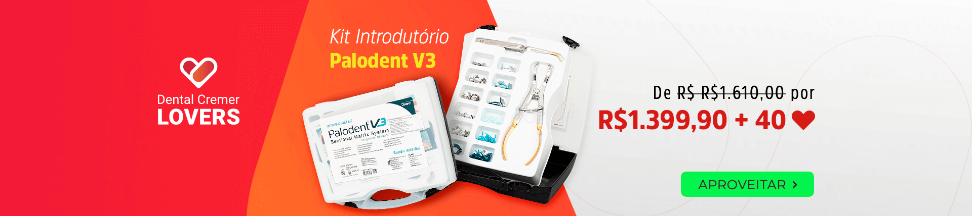 Kit Introdutório Palodent V3 com frete grátis   Dental Cremer