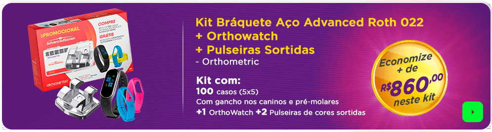 Kit Braquete Aço Orthometric com frete grátis | Dental Cremer