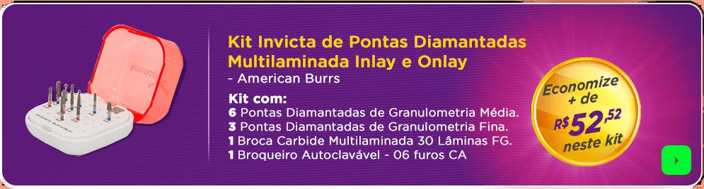 Kit Pontas Diamantadas Invicta com frete grátis | Dental Cremer
