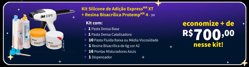 Confira Kit Silicone de Adição Express 3M   Dental Cremer