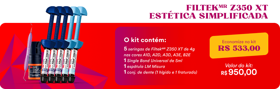 Kit Estética Simplificada Resina FiltekMR Z350 XT + Espátula + Conjunto de Dente + Adesivo Single Bond | Dental Cremer