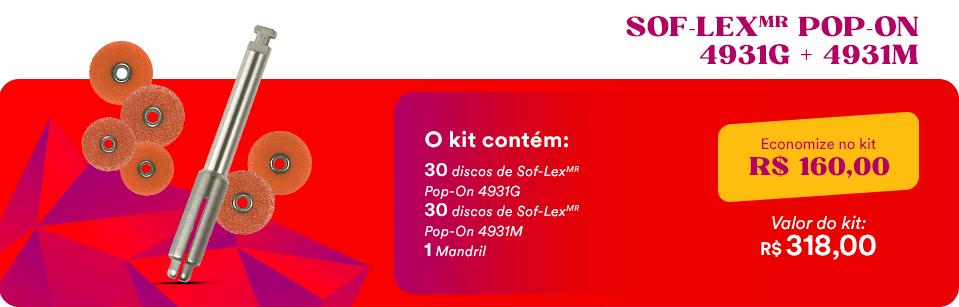 Kit Discos Sof-LexMR Pop-On + Mandril 3M | Dental Cremer