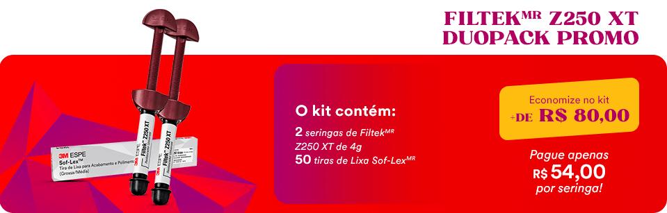 Kit FiltekMR Z250 XT Duopack + Tira Lixa Sof-Lex| Dental Cremer