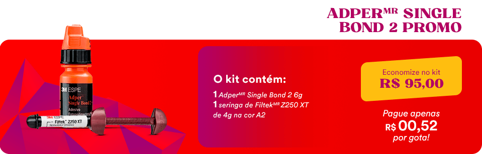 Kit Promocional Adesivo Adper Single Bond + Resina Filtek Z250 XT 3M | Dental Cremer