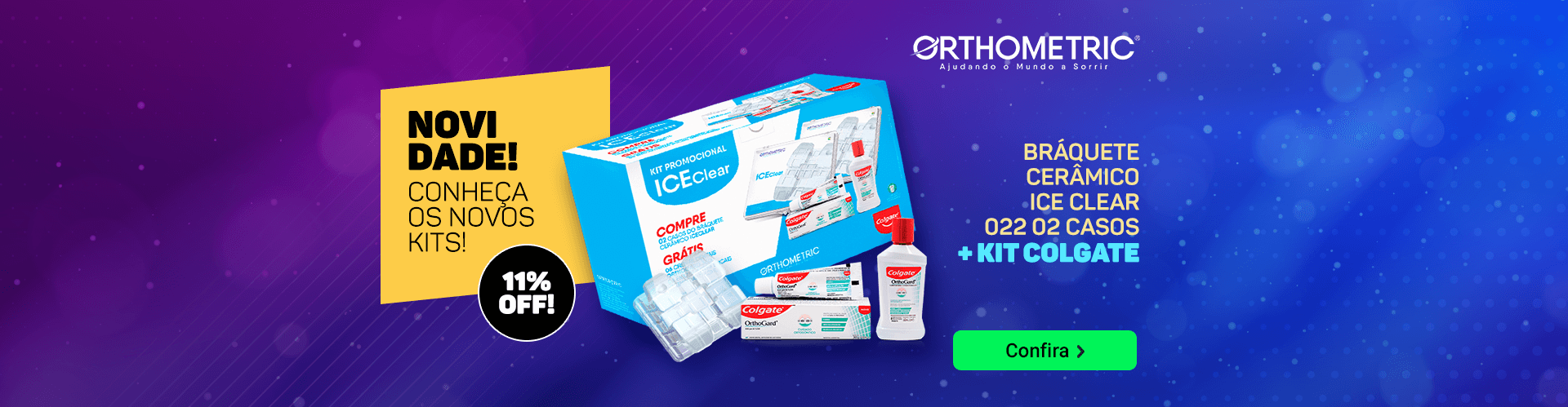 Kit Bráquete Ice Clear Orthometric com 11% OFF | Dental Cremer