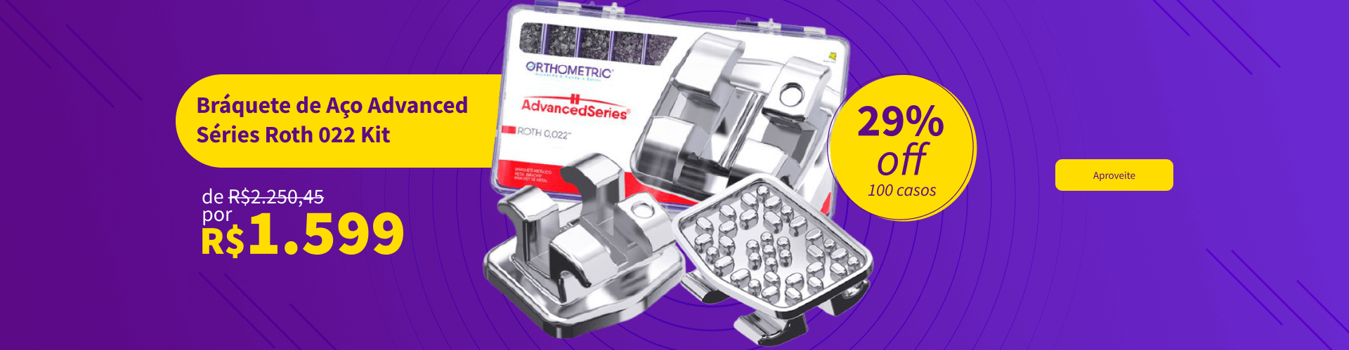 Confira Bráquete de Aço Advanced Séries Roth 022 Kit Orthometric com 29% OFF   Dental Cremer