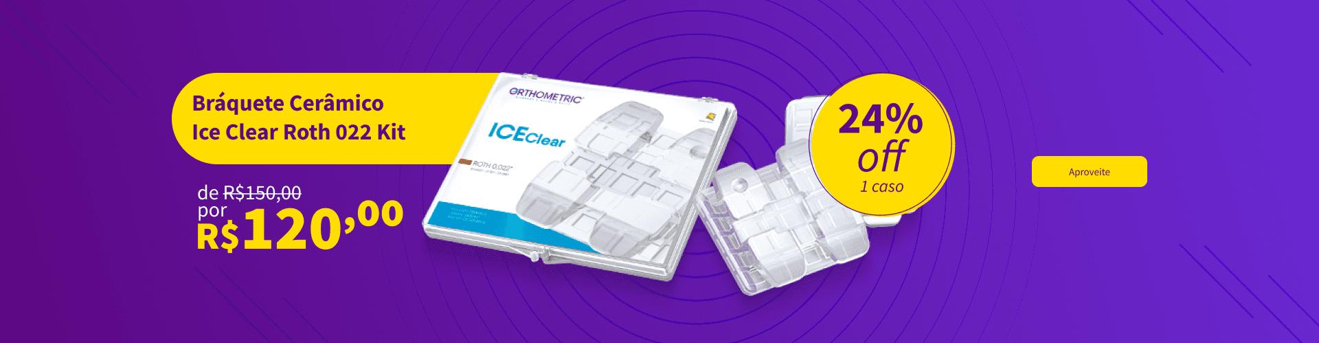 Confira Bráquete Cerâmico Ice Clear Roth 022 Kit da Orthometric com 24% OFF   Dental Cremer