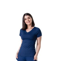 Scrub Blusa Feminina Dry Fit Azul Marinho - Namastê