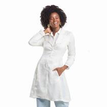 Jaleco Feminino Couture Texturizado Zebra Off White - Dra. Cherie