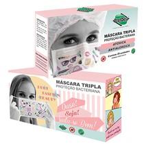 Máscara Cirúrgica Fashion Descartável Tripla - Protdesc