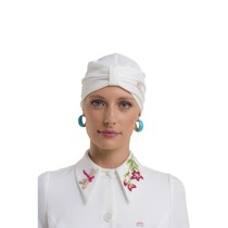 Touca Turbante By PatBO Off White - Dra. Cherie