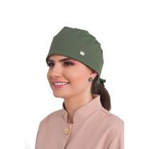 Touca Feminina Estilo Bandana Veneto Verde Militar - Dra. Cherie