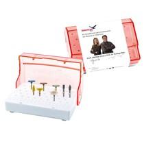 Kit Simplificado para Polimento de Resinas Compostas e Cerâmicas Dr. Rodrigo Reis e Dra. Michele Vivas - American Burrs