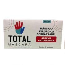 Máscara Cirúrgica Descartável Tripla com Elástico - Total