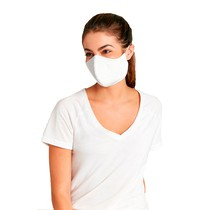 Máscara de Tecido com Elástico Branca - Malwee
