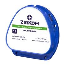 Disco de zircônia ZirkOM AG SHT 12mm - OdontoMega