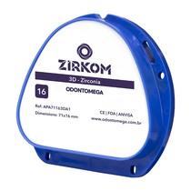Disco de zircônia ZirkOM AG 3D 16mm - OdontoMega