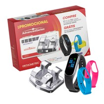 Kit Bráquete Aço Advanced Roth 022 + Orthowatch + Pulseiras Sortidas - Orthometric
