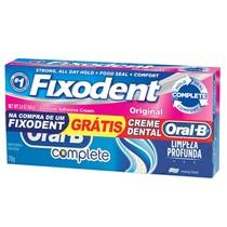 Creme Fixador de Dentadura Fixodent Original + Creme Dental - P&G