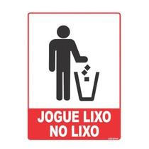 Placa de Sinalização Jogue Lixo no Lixo - Grespan