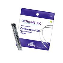 Arco de Aço SS Braided 8 Filamentos Retangular - Orthometric