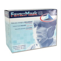 Máscara Cirúrgica Descartável Com Tiras - Fava