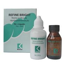 Resina Acrílica Refine Bright Kit Com Pó e Líquida - Kota