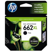 Cartucho de Tinta Original 662XL PR Ink Advantage - HP