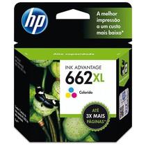 Cartucho de Tinta Original 662XL Color Ink Advantage - HP