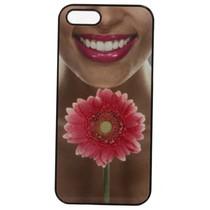 Capinha Celular Flor Gerbera Color Preta - Dudu Medeiros
