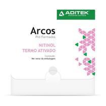 Sequência de Arcos Estéticos NiTi Termoativado Active Clear - Aditek
