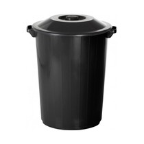 Lixeira Recycle 35L Preta - Plasvale