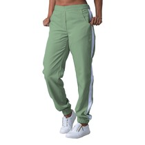 Scrub Calça Feminina Detalhe Estampado Gabardine Verde - Namastê