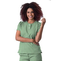 Scrub Blusa Feminina Gabardine Verde - Namastê