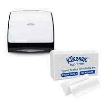 Combo Dispenser para Papel Toalha Interfolhado + Papel Toalha - Kleenex