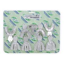 Kit de Moldeiras Adulto Perfuradas de Alumínio - Tecnodent