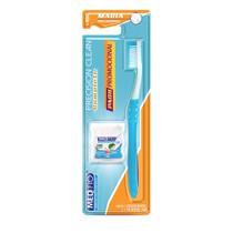 Escova Dental Precision Clean Adulto Macia + Fio Dental Slide Pro Menta - Medfio