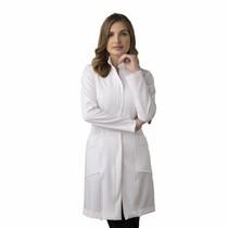 Jaleco Feminino Doris Branco com Caramelo - Holi Coats