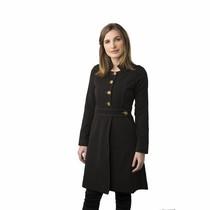 Jaleco Feminino Paola Preto com Caramelo - Holi Coats