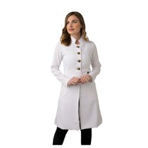 Jaleco Feminino Paola Branco com Croco - Holi Coats