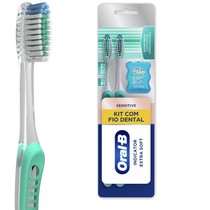 Escova Dental Indicator Extra Soft Kit - Oral-B