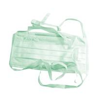 Máscara Descartável Tripla Proteção com Tiras Verde - Fava